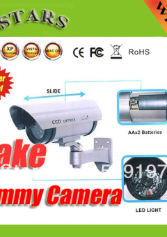 Free-shipping-Discount-Wireless-Waterproof-IR-LED-Surveillance-Fake-Dummy-Security-camera-vandalproof-surveillance-kit-for1