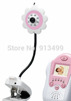 Pink-1-5-Inch-2-4GHz-Wireless-Camera-Baby-Monitor-Voice-Control-flower-Clip1